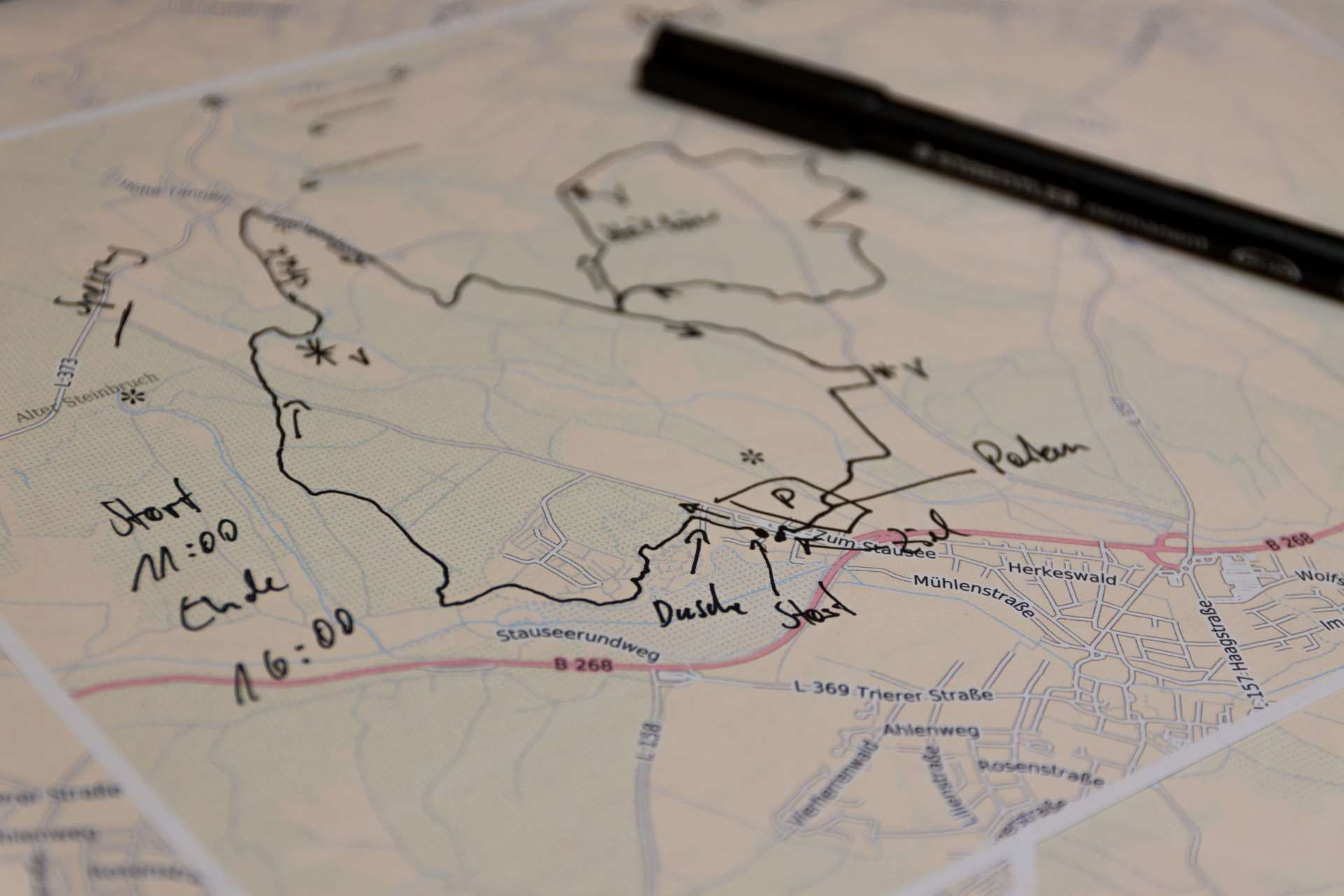 Planung interaktives Sportevent-Karte