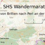 Karte mit Überschrift SHS-Wandermarathon 2017