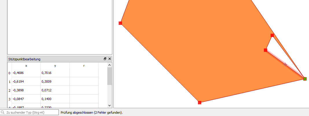 Geodaten-Fehler Geometrie fehlerhafter Ring